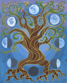 """Moon Tree."" Acrylic on canvas. Prints available."