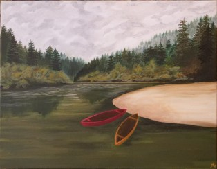 Canoes on the River I